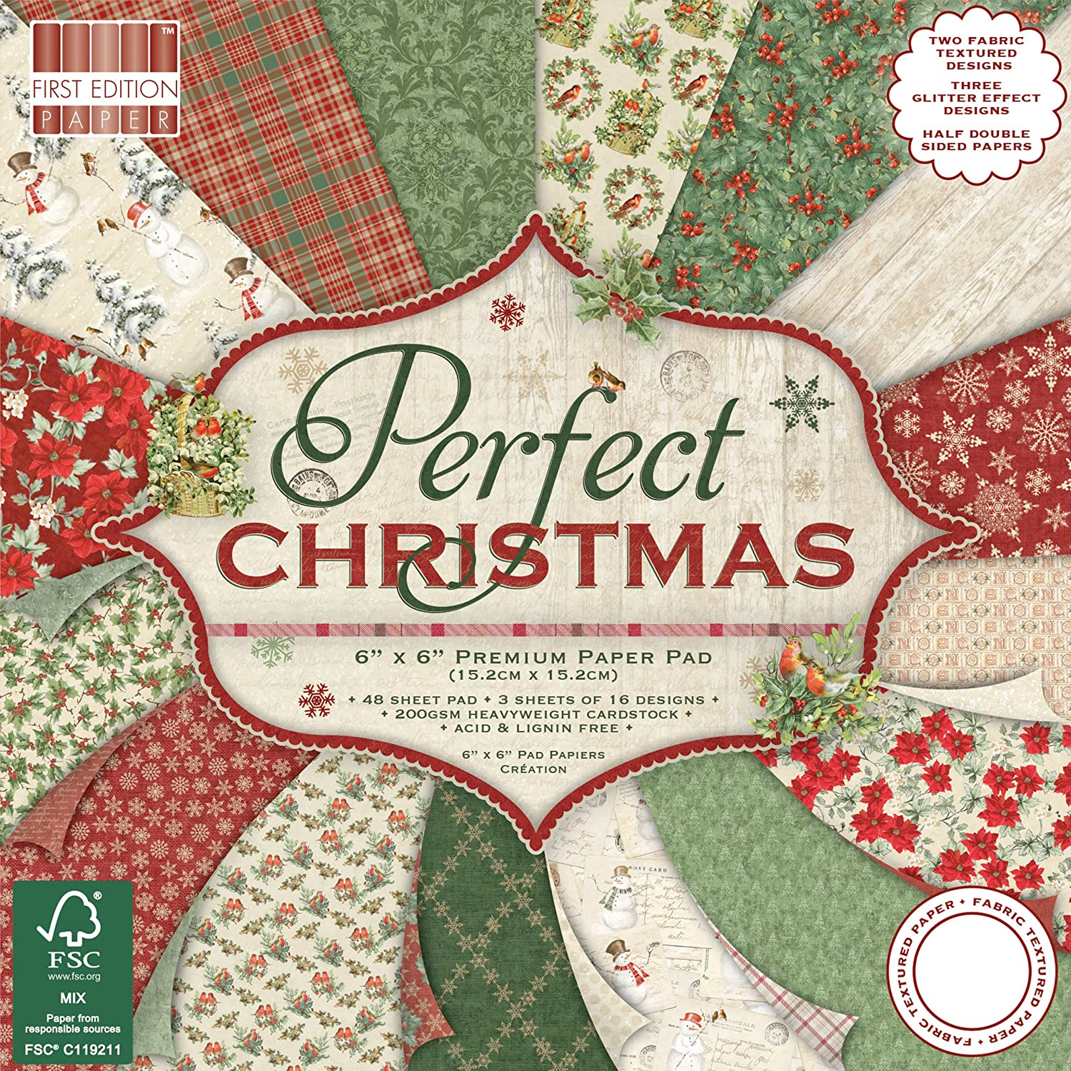 First Edition Christmas 2018 - Perfect Christmas Premium Paper Pad 6