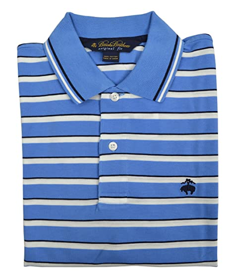 Brooks Brothers - Polo de Rayas para Hombre, Talla S, Color Azul y ...
