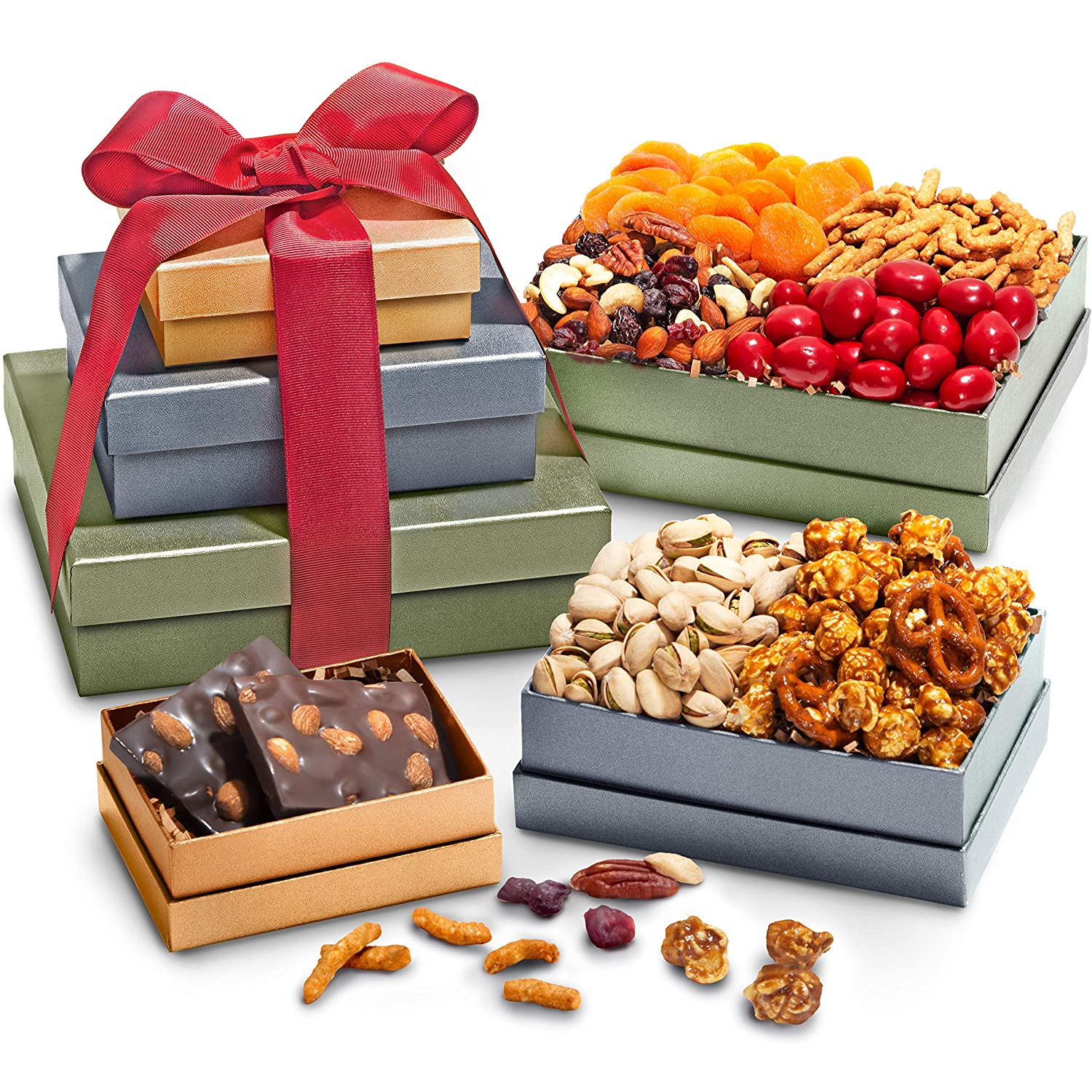 Treasure Trove Gift Tower - Gourmet Food for Holiday, Corporate Gifting