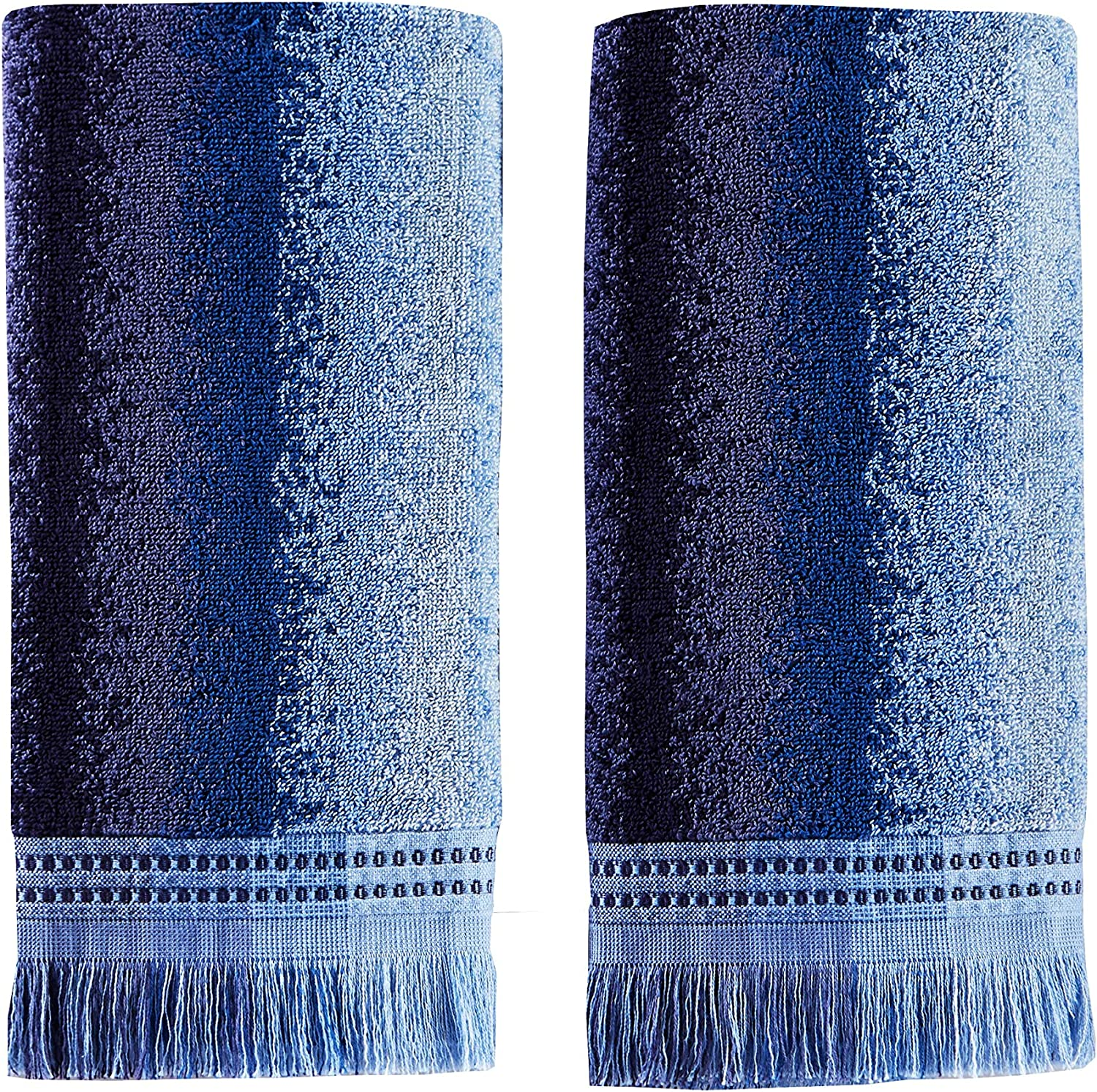 SKL Home by Saturday Knight Ltd. Eckhart Stripe 2-Piece Hand Towel Set, Blue