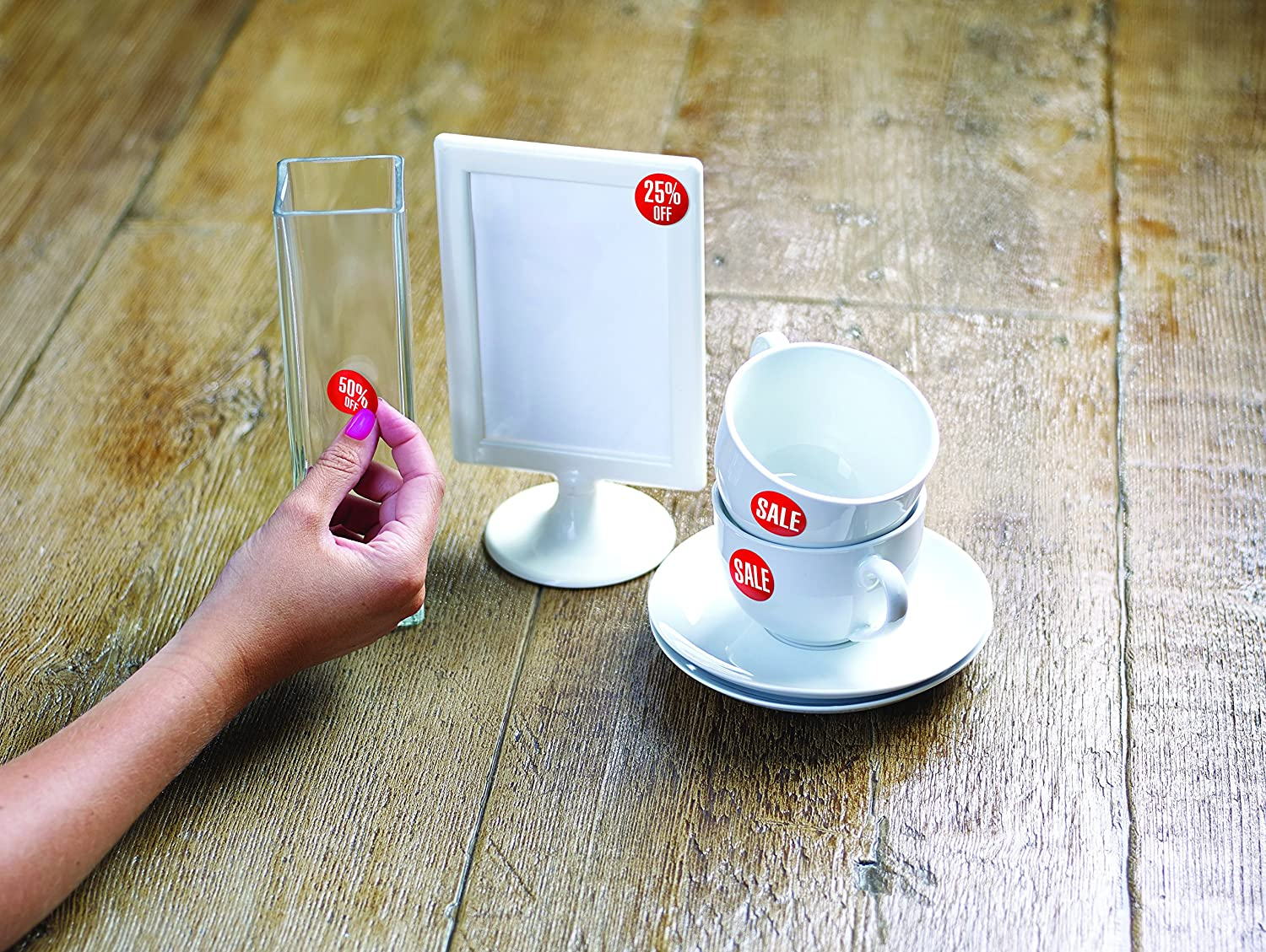Avery 50-123 Self-Adhesive Removable 10/% Off Red Round Sale//Discount Stickers 500 Labels Per dispenser pack