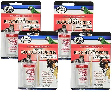 c94c0073a3da Amazon.com : (4 Pack) Four-Paws Blood Stopper Powder, 0.5 Ounce ...
