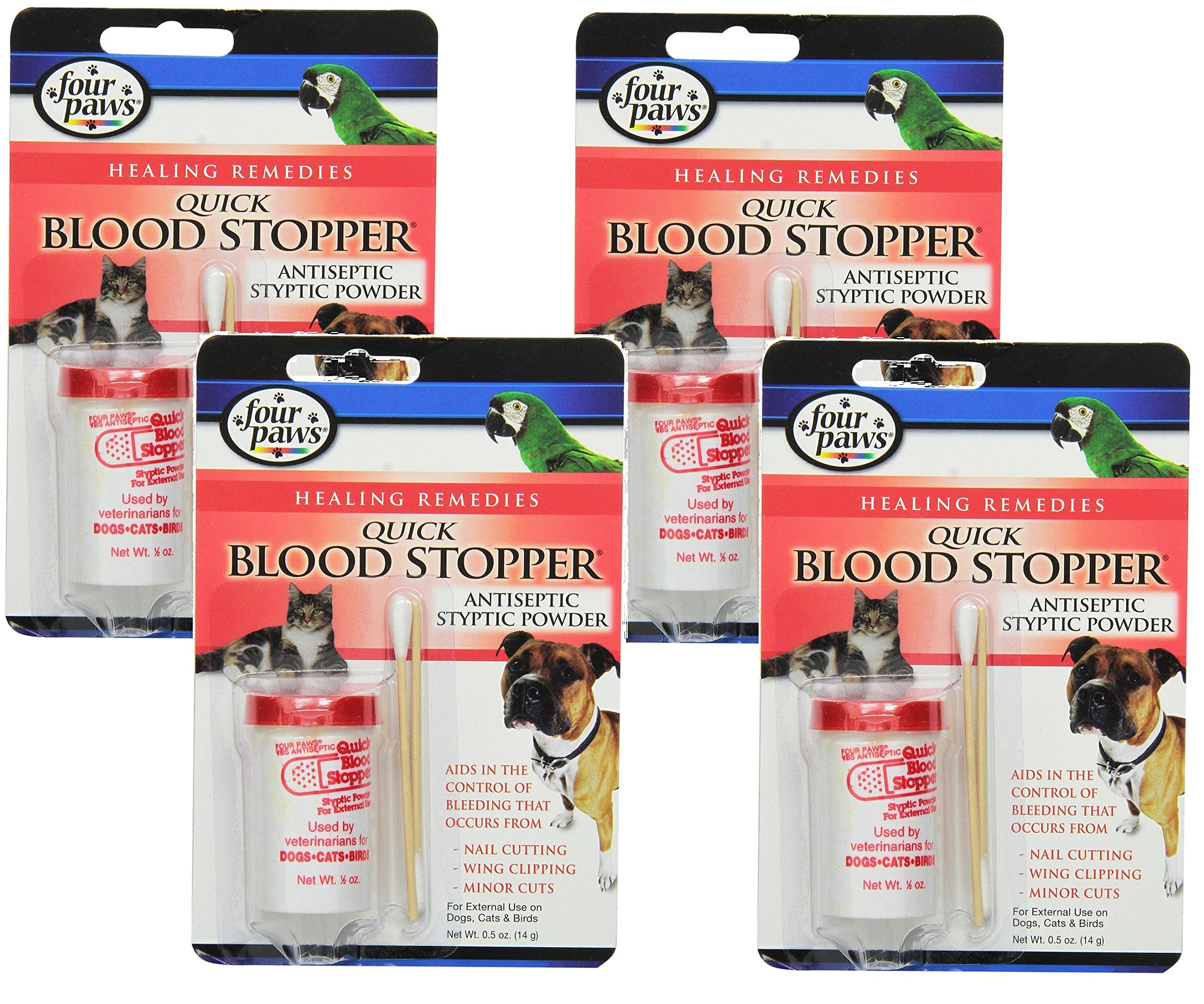 (4 Pack) Four-Paws Blood Stopper Powder, 0.5 Ounce