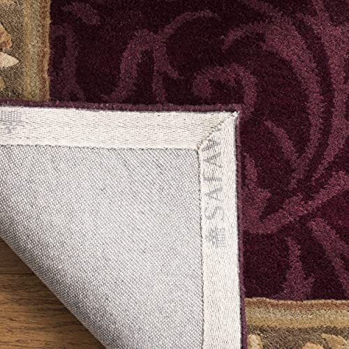 Safavieh Empire Collection EM414A Handmade Traditional European Dark Red and Dark Beige Premium Wool Area Rug 4 x 6