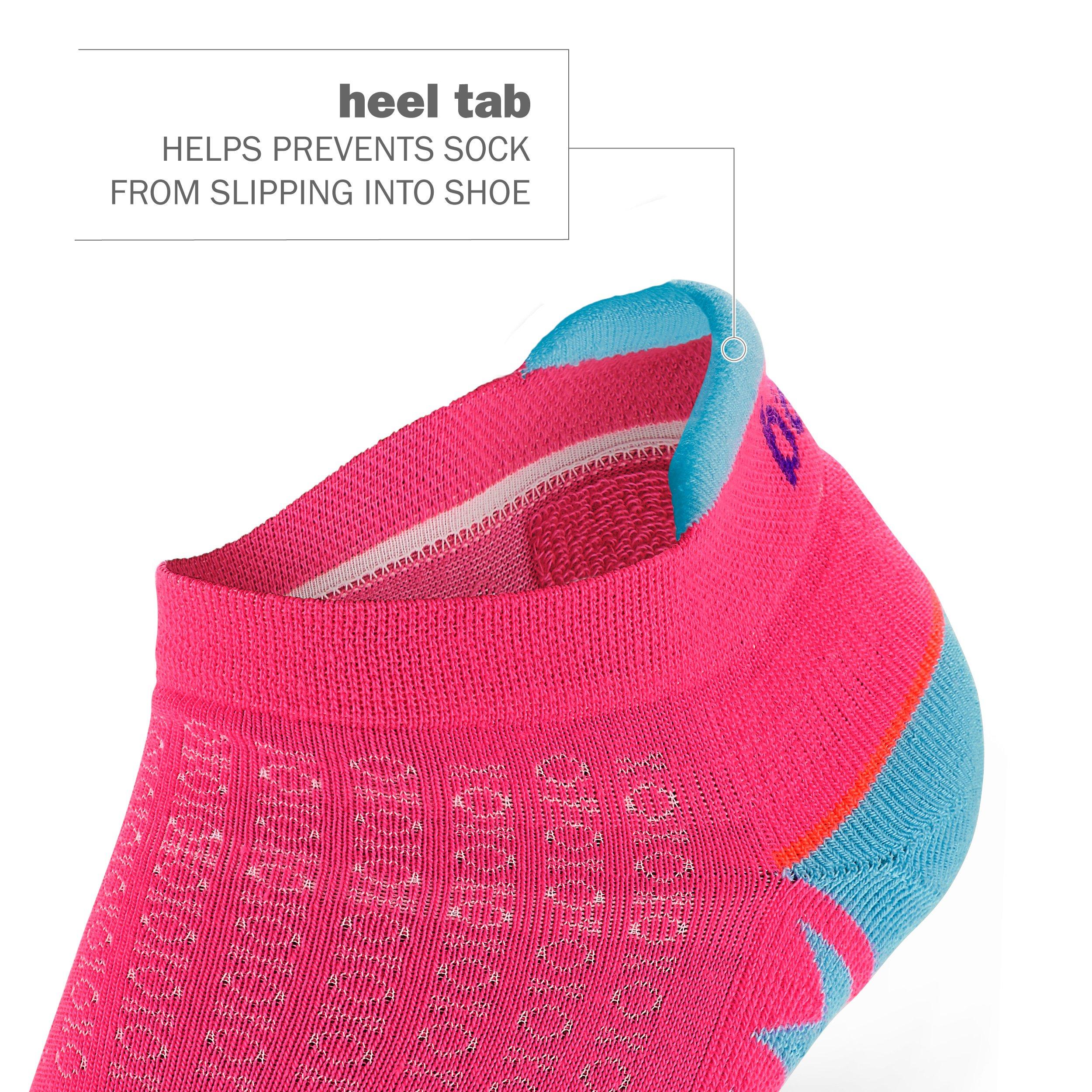 Balega Women's Enduro No Show Socks (1 Pair), Watermelon/Orange, Medium by Balega (Image #4)