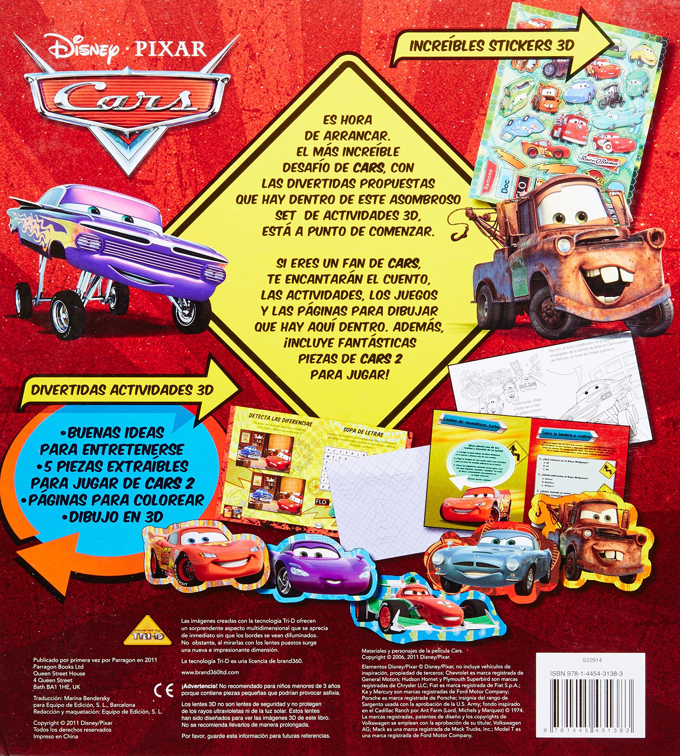 CARS 2 - SET DE ACTIVIDADES 3D (Spanish Edition): DISNEY ENTERPRISES INC.: 9781445431383: Amazon.com: Books