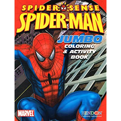 Marvel The Amazing Spider-Man Jumbo Coloring & Activity Book (Assorted Coverart): Toys & Games