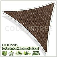 ColourTree 16'X 16' X 16'Sol Rainleaf Triangle–Heavy Duty Comercial Estándar–160g/m2–4años de garantía