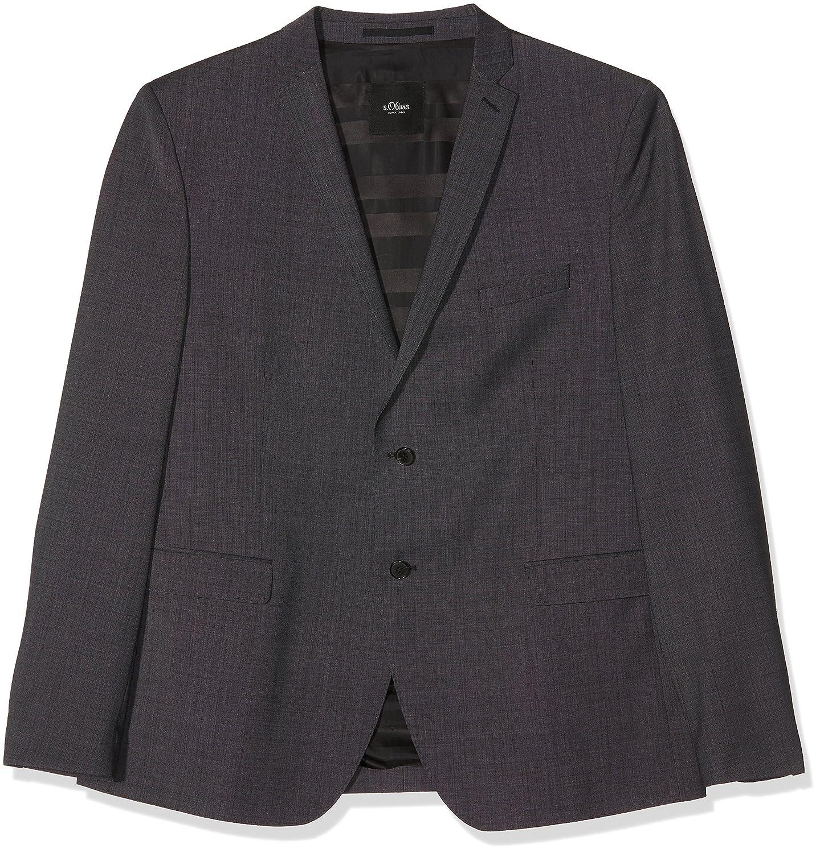 s.Oliver BLACK LABEL Men's Suit Jacket Grau (Anthracite Dots 98M6) 20.5 02899544425