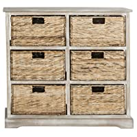 Overstock.com deals on Safavieh Keenan Winter Melody 6-Drawer Basket Storage Chest