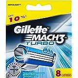 Gillette Mach3 Turbo Cartridge 8 Pack