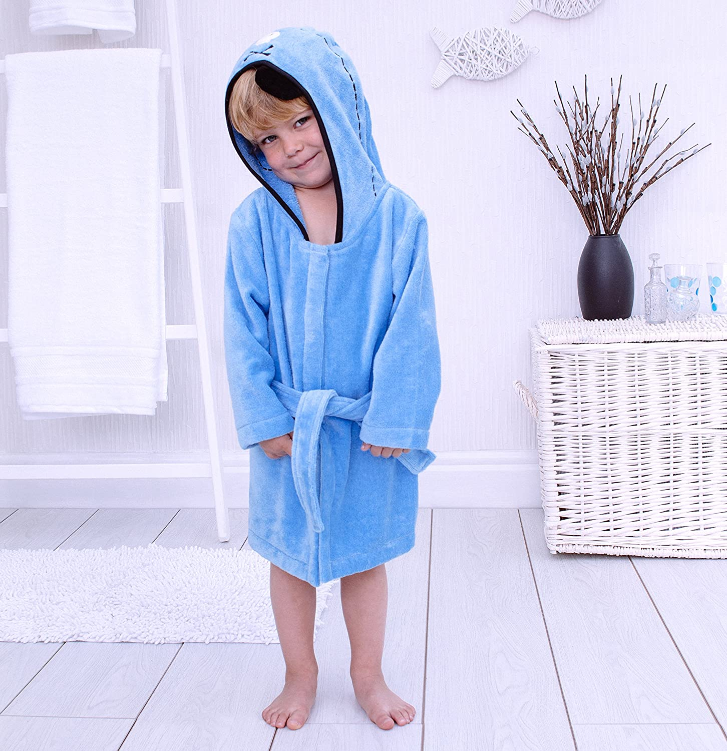 Bathing Bunnies Hooded Pirate Bath Robe Cotton for 1-3 Year Old Surrey AT Company Ltd 760439PTR