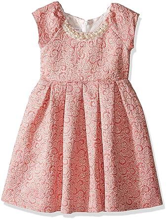ec7a653c2091b Amazon.com: Bonnie Jean Girls' Brocade Party Dress: Clothing