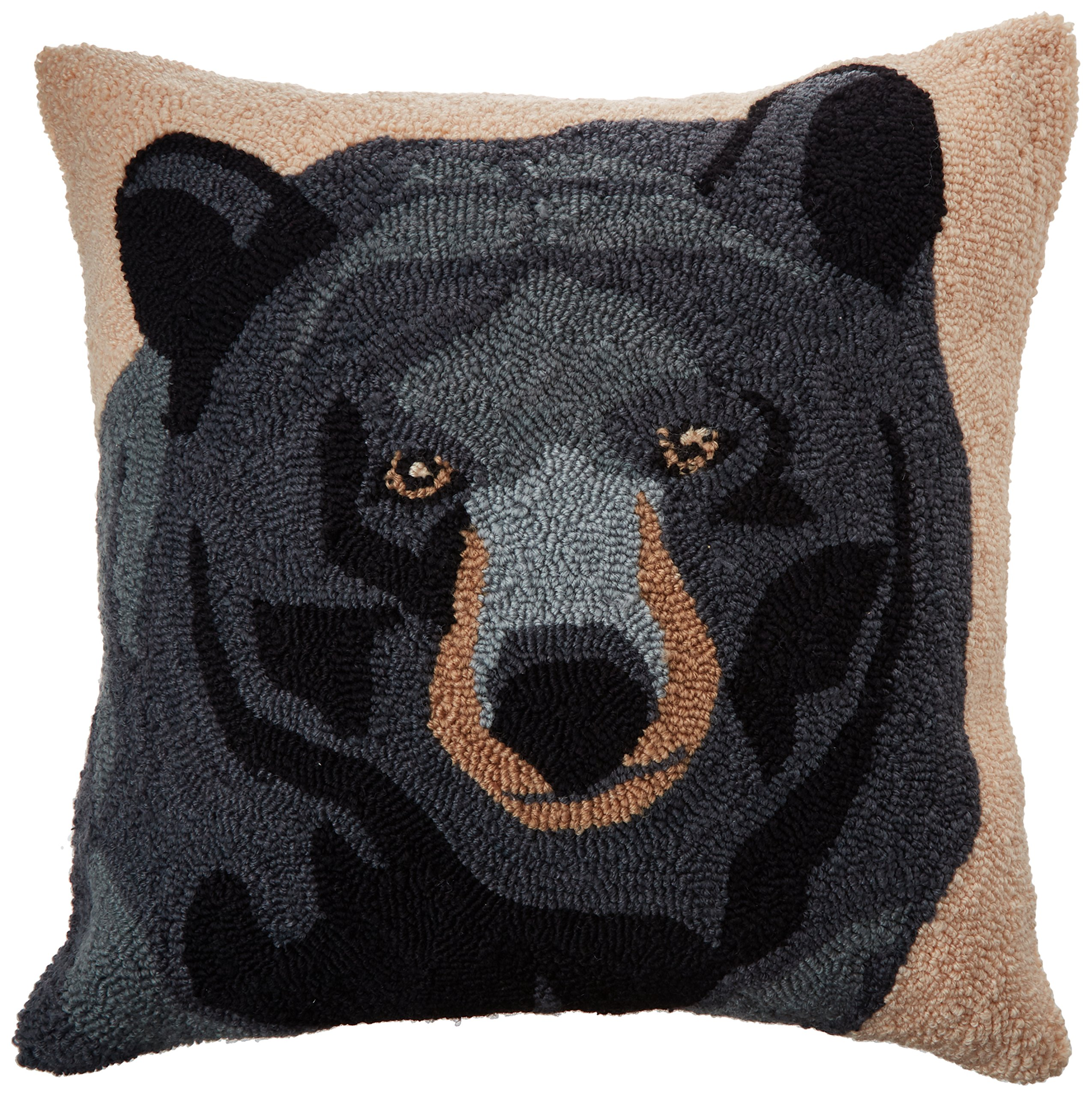 C&F Home in the Woods Bear Pillow, Black