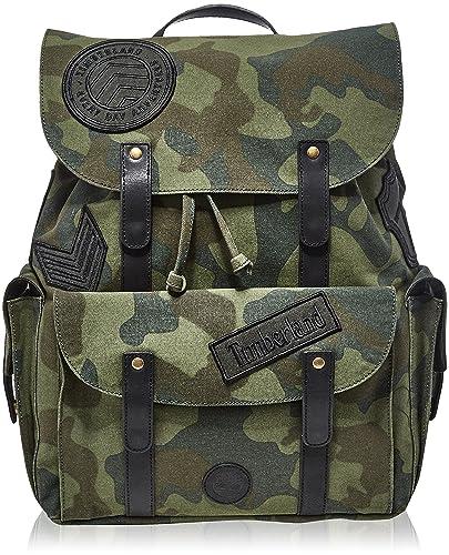 Timberland - Backpack, Mochilas Unisex adulto, Verde (Green Camo), 22x30x27.