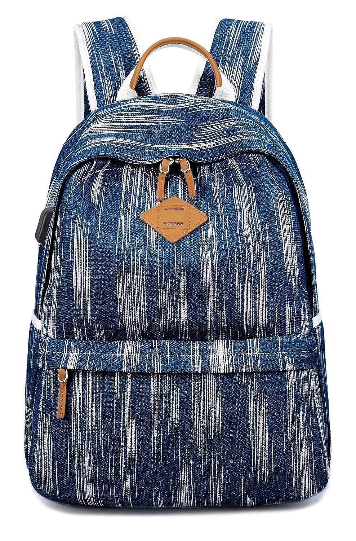 EverVanz Mochila Vintage de Lona para la Escuela, Senderismo, Aire Libre para Portátil de 12 a 15 pulgadas 8618DarkGrey