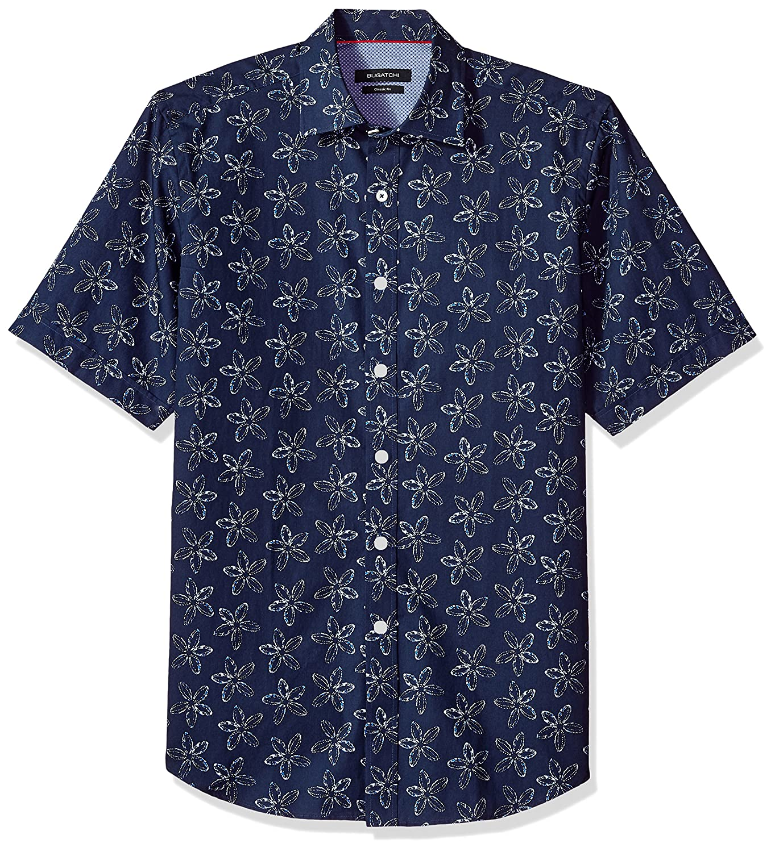 Bugatchi Uomo Geometric Long Sleeve Shirt Classic Fit
