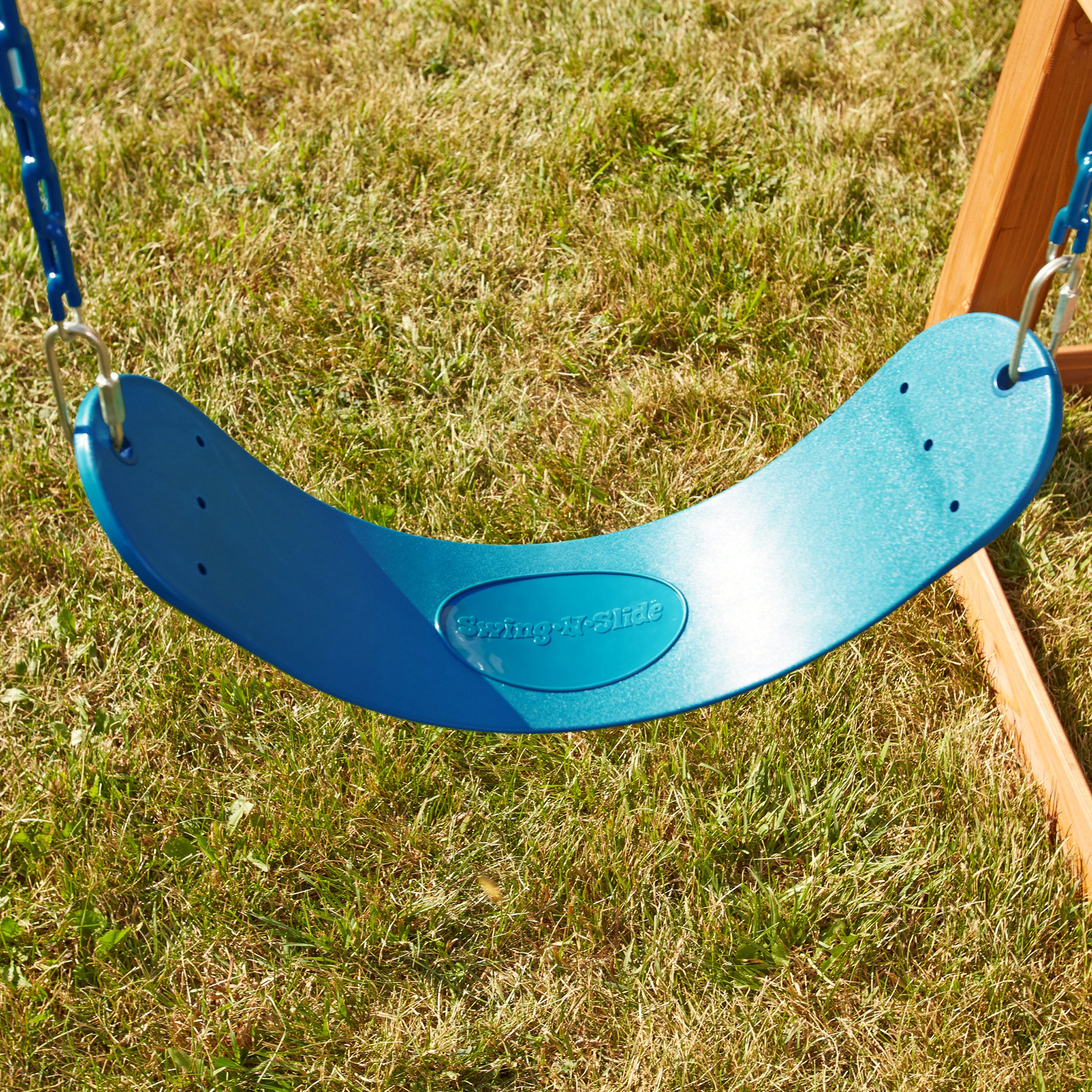 Swing Seat and Ring/Trapeze Bundle - Includes 2 Blue Belted Swing Seats and a Trapeze Combo Swing for Swing Sets, Play Sets, etc. by Swing-N-Slide (Image #3)