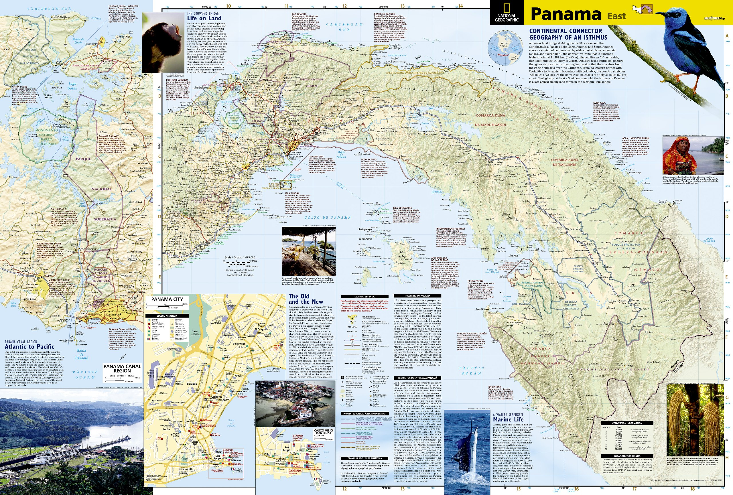 Panama National Geographic Adventure Map National Geographic - Map panama