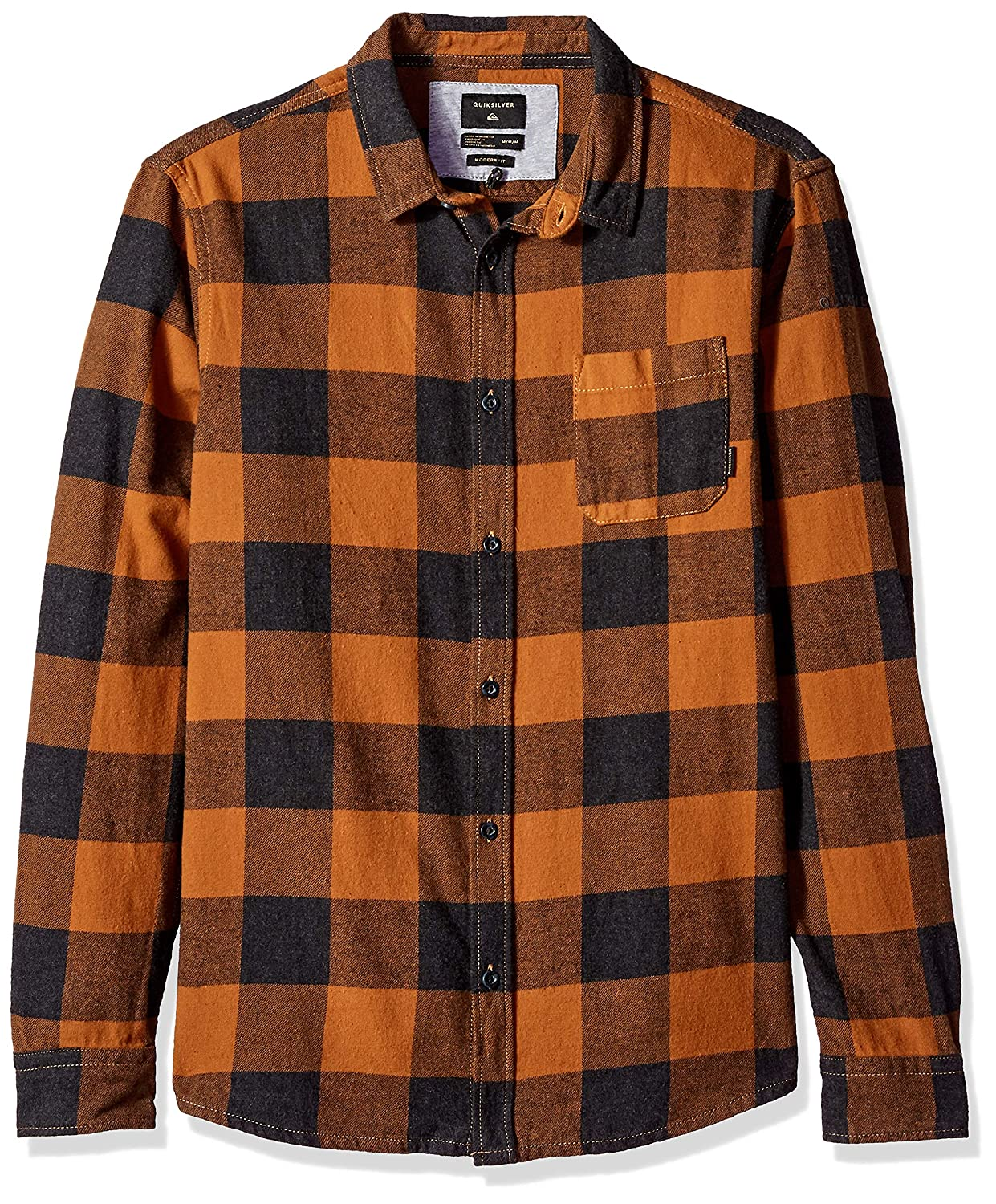 Quiksilver Mens Motherfly Button Down Flannel Shirt