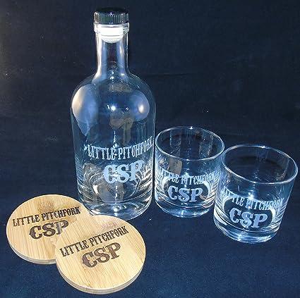Red Head Barrels Personalizada Grabado al Agua Fuerte, Grabado Botella Whisky Bourbon, Whisky Rocas