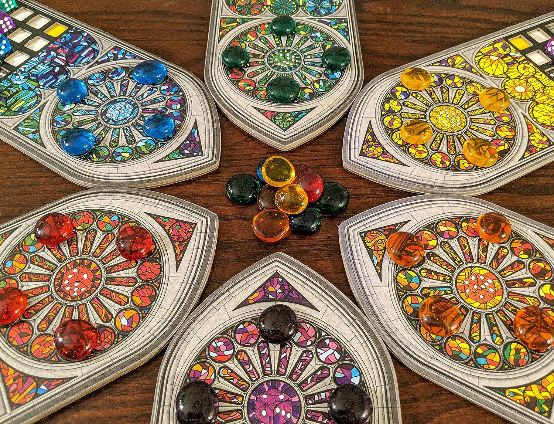 Sagrada Favor Tokens en 6 Colores de Jugador, Colores de expansión incluidos, 36 Unidades de Gemas de Vidrio ovaladas, Sagrada Juego de Mesa Piezas: Amazon.es: Juguetes y juegos