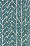 "Loloi Rugs ISLEIE-02TEGY2239 Isle Collection Area Rug, Teal/Grey, 2' 2"" x 3' 9"""