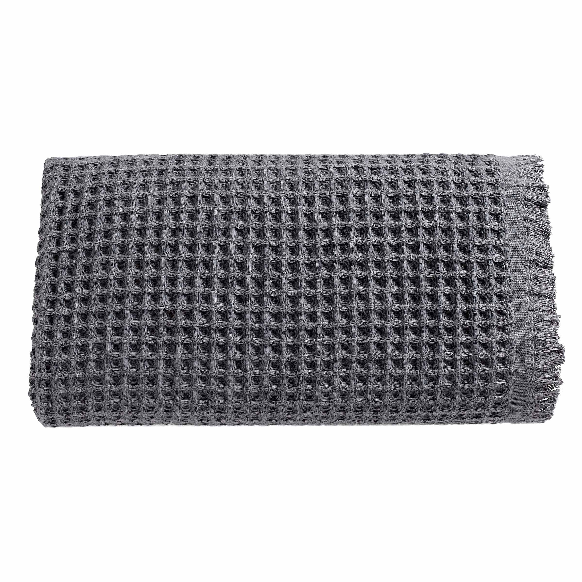 Arvec Turkish Waffle Weave Bath Sheet Towel, Bamboo & Turkish Cotton Blend, Ultra Soft Turkish Bath Towel 35'' x 70'' (Grey)