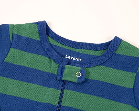 433d7bd22 Amazon.com  Leveret Striped Baby Boys Footed Pajamas Sleeper 100 ...