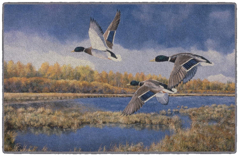"""Brumlow Mills Heading South Wildlife Duck Rug, 1'8"""" x 2'10"""""""