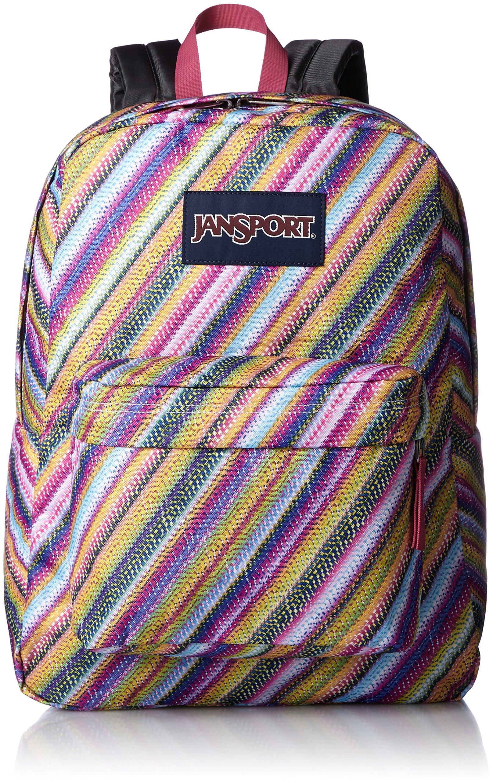JanSport Superbreak Backpack- Sale Colors (Multi Texture Stripe)