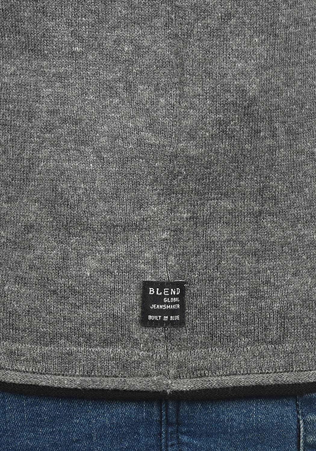 Blend Odin Mens Jumper Knit Pullover with Crew Neck Made of 100/% Cotton