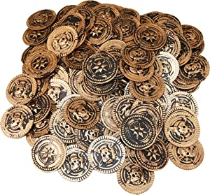 SNInc. Gold Pirate Treasure Coins 144 Pcs.