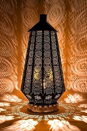 Orientalische Kleine Tischlampe Lampe Adab Schwarz E14 | Marokkanische  Tischlampen Klein Aus Metall, Lampenschirm Schwarz