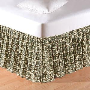 C&F Home Kasbah Queen Bed Skirt Queen Bed Skirt Tan