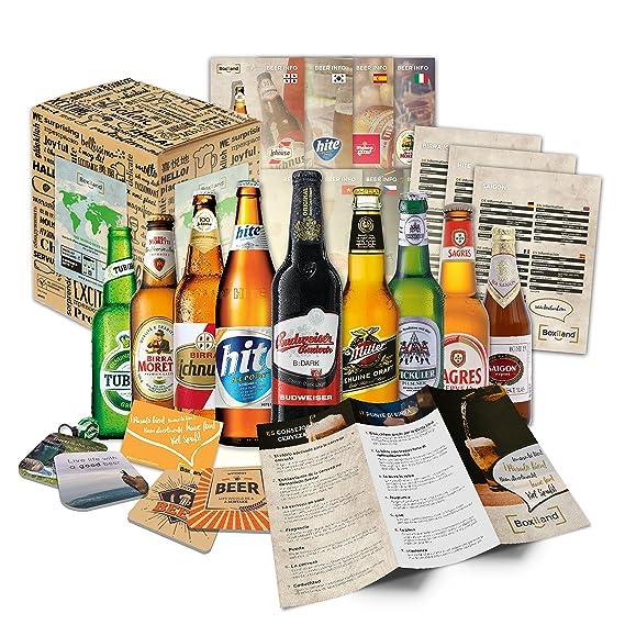 """""""9 Especialidades de cerveza del Mundo"""" Colección de las más famosas variedades de"""