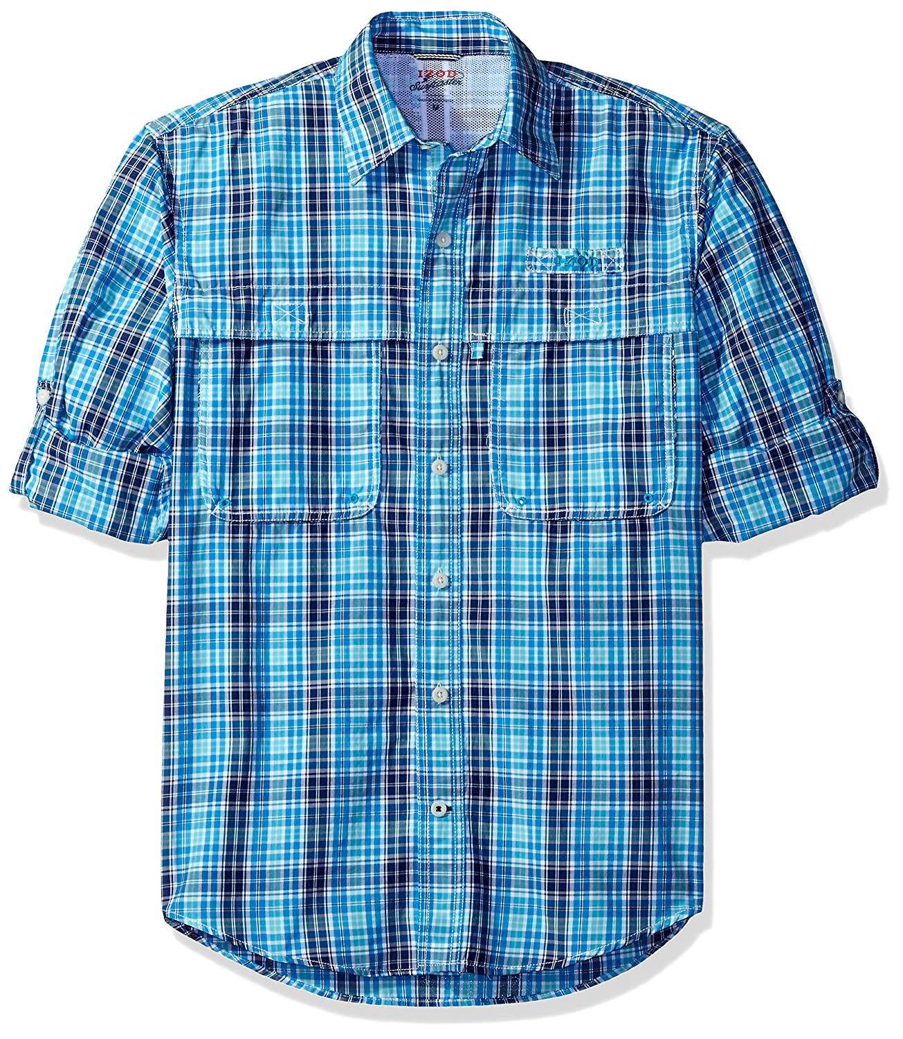 Izod Men's Long Sleeve Surfcaster Plaid Fishing Shirt IZOD Men's Sportswear 45SW469