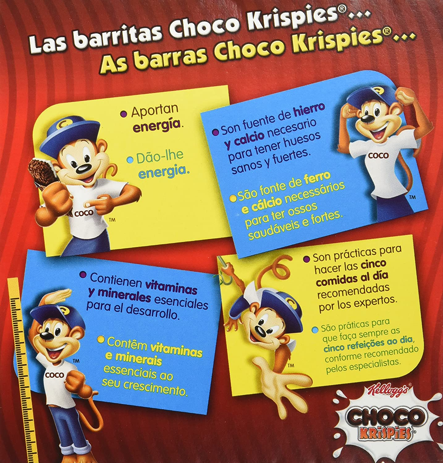 Choco Krispies Barrita de Cereales con Cacao y leche - Pack de 6 x 20 g - Total: 120 g: Amazon.es: Amazon Pantry
