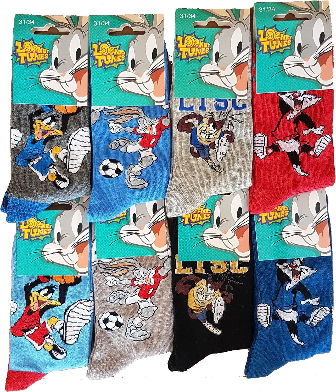 Mod/èle photo assorti selon arrivage 27//30, Pack de 3 socquettes Looney Tunes Chaussettes gar/Ã/§on fantaisie