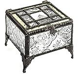 J. Devlin Glass Art Box 354 Pale Green Tiffany Glass Jewelry Keepsake Box Decorative Trinket Box Vintage Gift