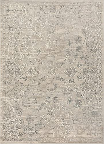 Well Woven Lena Vintage Beige Grey Distressed Oriental Area Rug 3×5 3 7 x 5 3