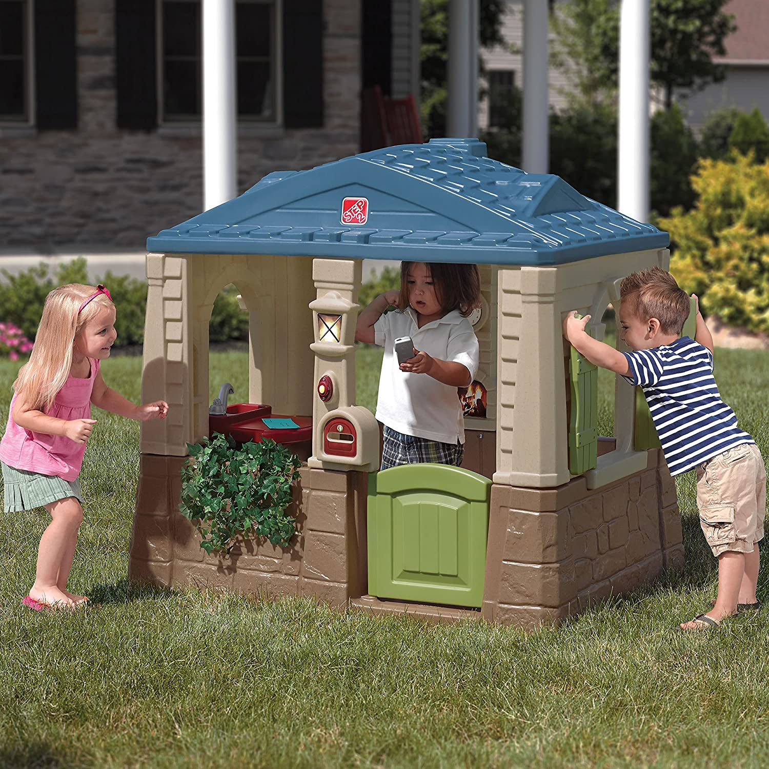 Step2 Happy Home Cottage /& Grill Kids Playhouse Pink 866599