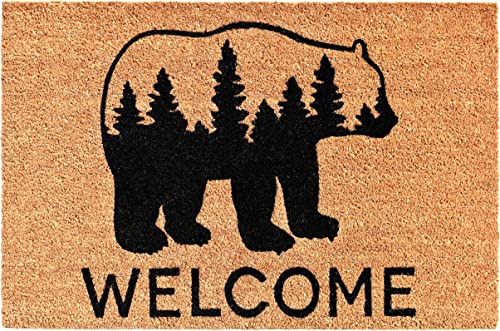 KIMODE Welcome Mat 24 X 35 Doormat for Front Door Entryway Outdoor Floor mat Rubber Backing Non Slip Welcome Door mat Microfiber Washable Area Rug