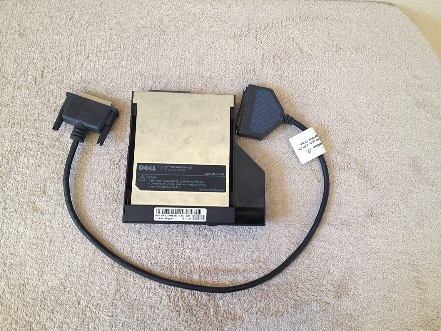 Dell Floppy Disk Drive Module Laptop 3.5 Inch Black 1.44 MB 10NRV-A00