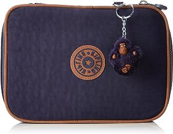 Kipling 100 Pens Estuche Grande, Azul (Blue Tan Block): Amazon.es: Equipaje