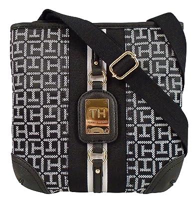 a34393c83689 Tommy Hilfiger Crossbody Hand bag- Black  Handbags  Amazon.com