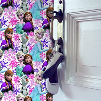 Disney Frozen Anna Elsa Olaf Pink Shimmer Wallpaper Amazon Co Uk