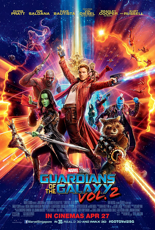 Guardians of the Galaxy Vol. 2 Movie Poster Limited Print Photo Chris Pratt, Zoe Saldana Size 27x40 #1