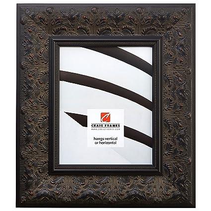 ornate black picture frames oval craig frames borromini 16 by 20inch ornate picture frame black walnut amazoncom