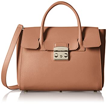 Furla Metropolis Medium Satchel Monedero, Color Corniola: Amazon.es: Equipaje